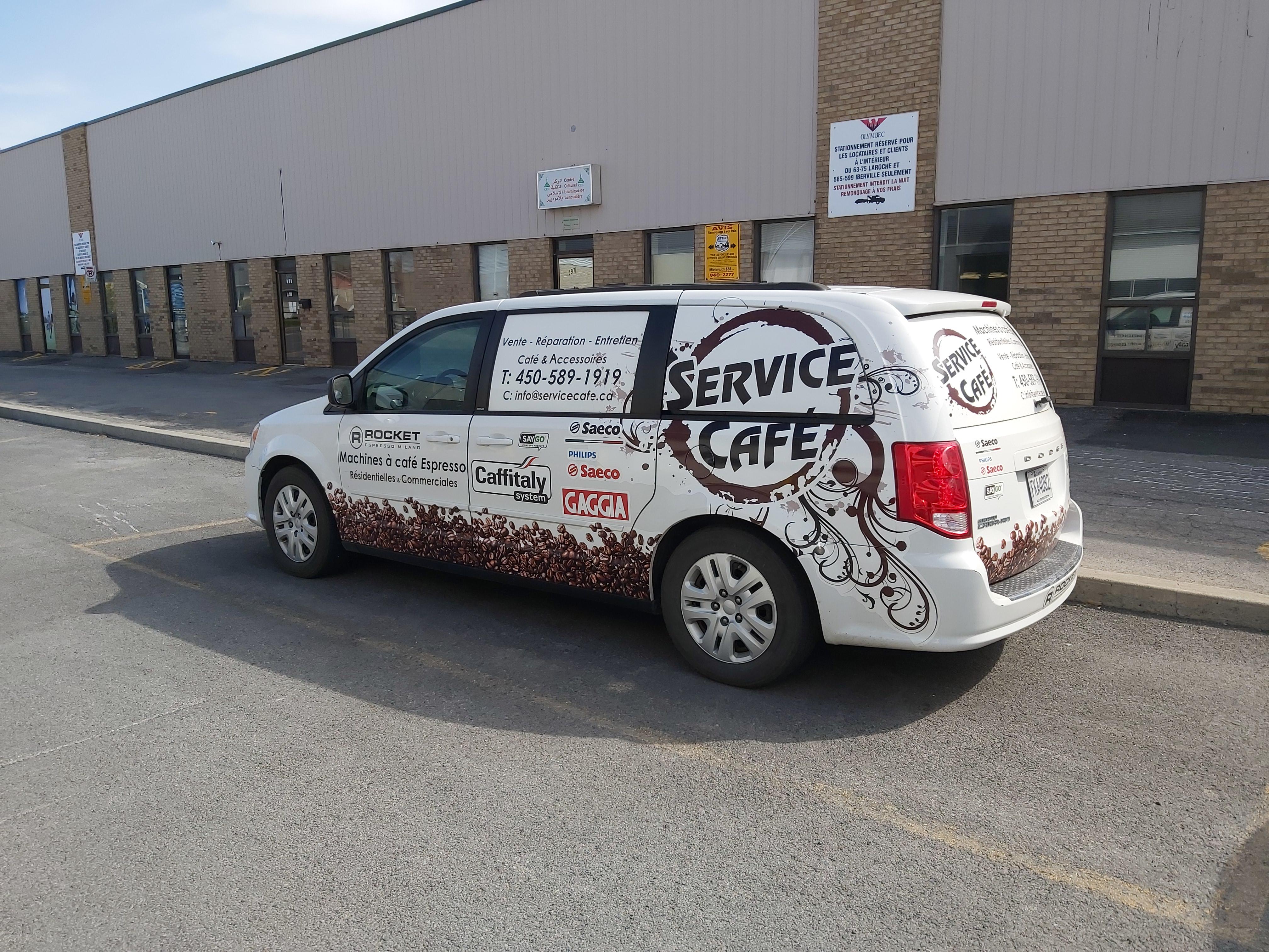 Camion service café